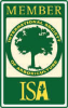 Certified arborist. Certified by International Society of Arboriculture